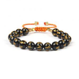 GentlemanPTY.com tiene a la venta Brazalete tibetano elaborado en tejido macramé ajustable con beads de 10 mm